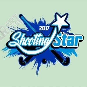 Shooting Star Field Hockey logo 2017