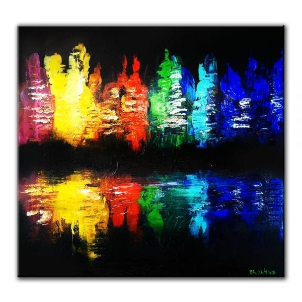 city of color ABSTRACT PAINTING