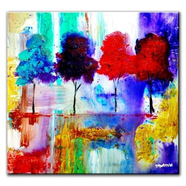 closer together abstract painting