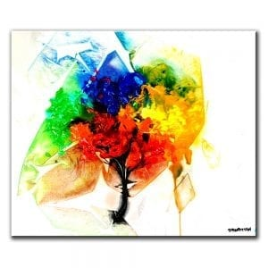 TREE OF COLOR, PAINTING OF A TREE, COLORFUL