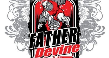 2018 Father Devine Wrestling Tournament, vector logo design for t-shirt by UrArtStudio