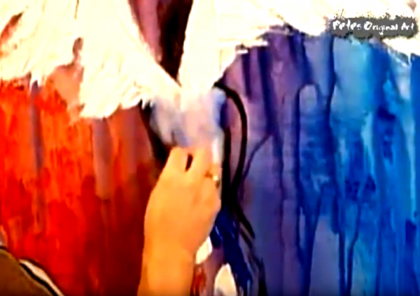 Abstract painting - angel