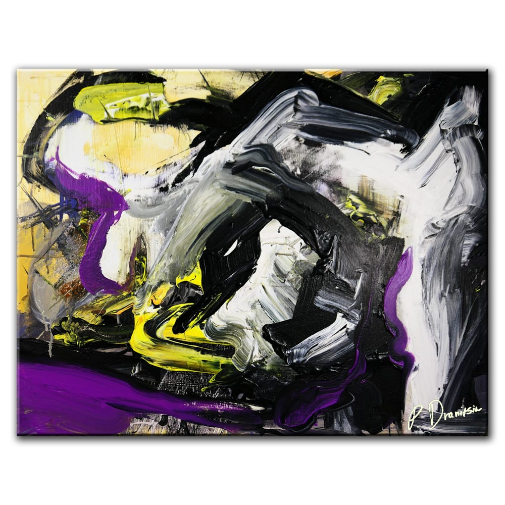 BUMBLEBEES, ABSTRACT PAINTING BY PETER DRANITSIN