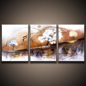 abstract landscape painting by Peter Dranitsin