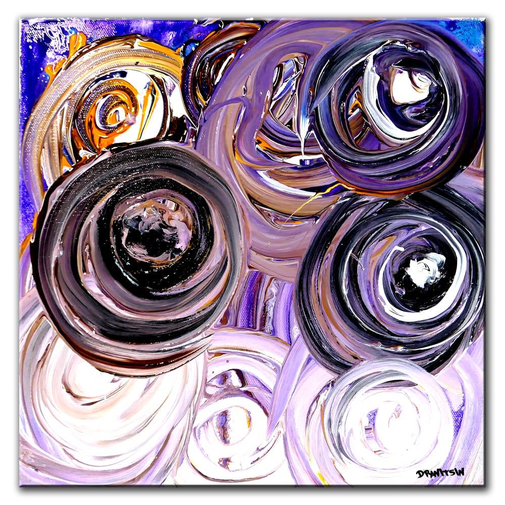 mini circles ABSTRACT PAINTING BY PETER DRANITSIN