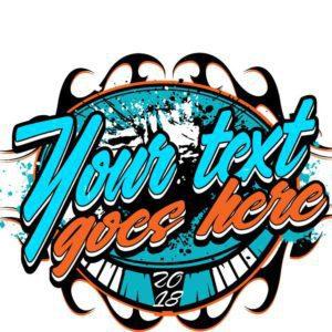 Customizable t-shirt vector logo design with adjustable text