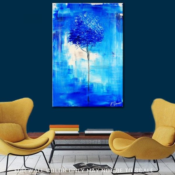 BLUE TREE ABSTRACT PAINTING