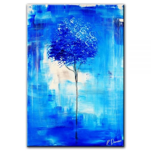 ABSTRACT PAINTING OF A TREE
