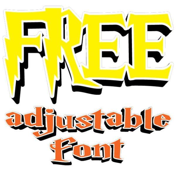 FREE ADJUSTABLE FONT 7