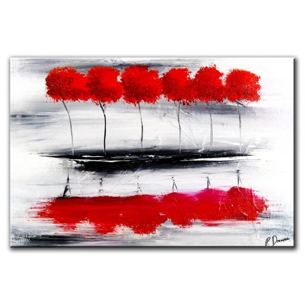 red island, abstract landscape painting by Dranitsin