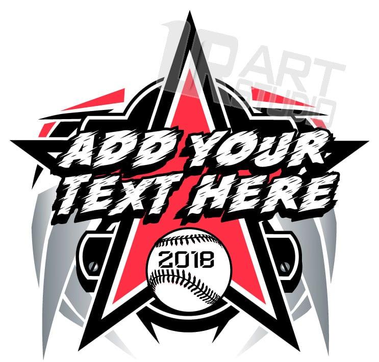 baseball t shirt logo design with adjustable text rh urartstudio com Custom Softball T-Shirt Designs Cool Softball Logos