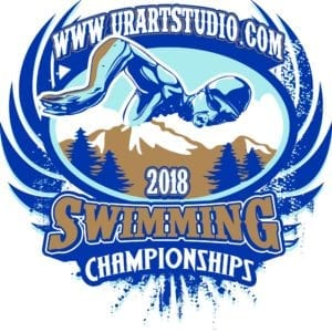 2018 SWIMMING CHAMPIONSHIPS T-shirt vector logo design for print