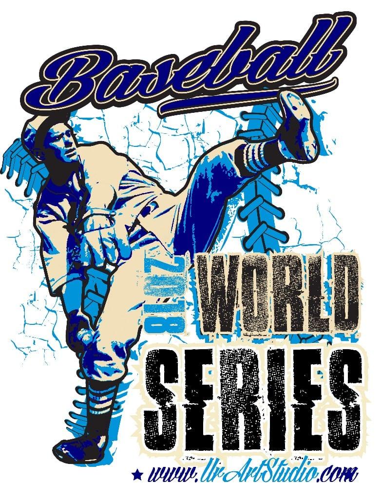 BASEBALL WORLD SERIES 2018 t-shirt vector logo design for print