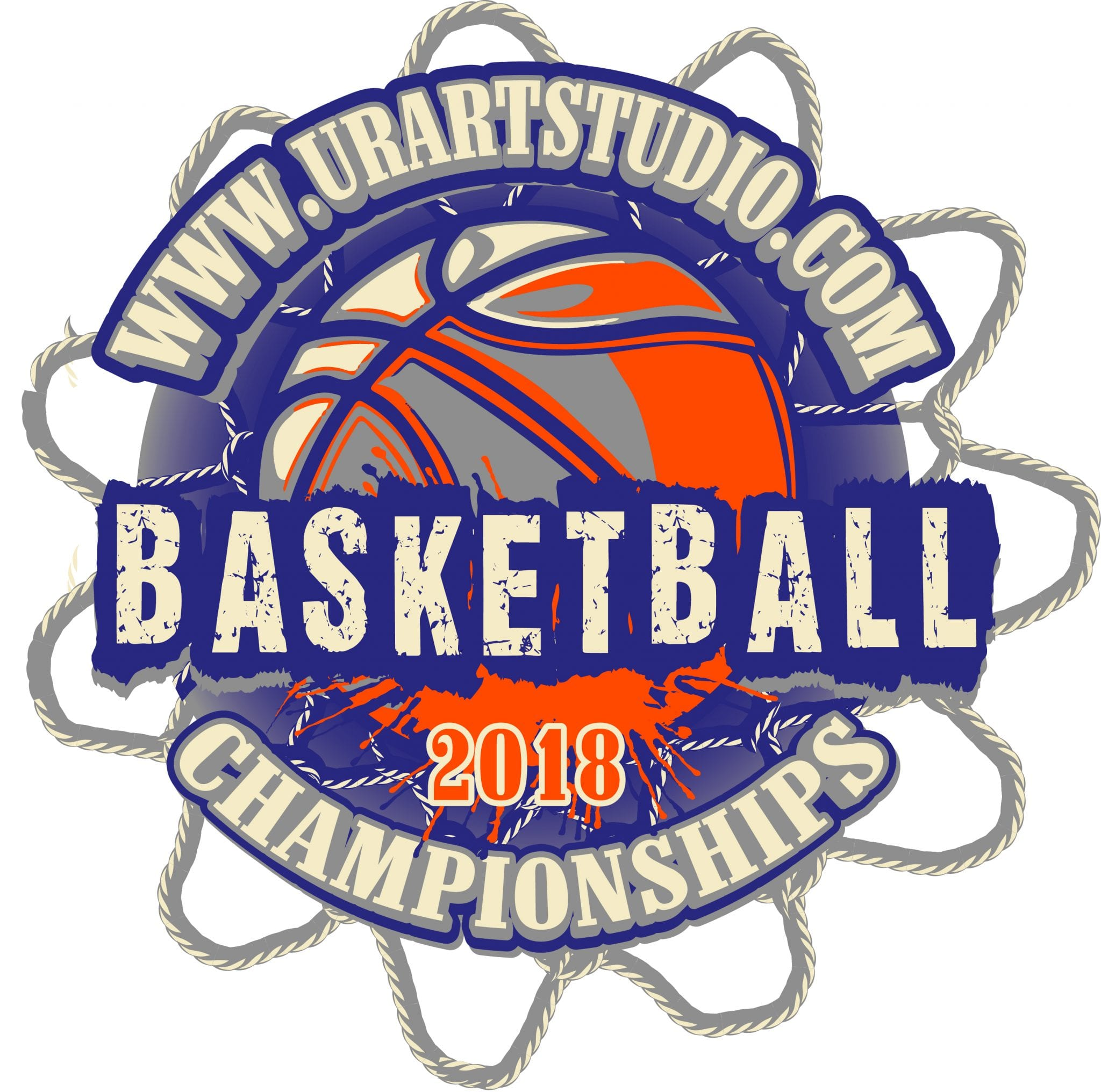 BASKETBALL 2018 CHAMPIONSHIPS t-shirt vector logo design for print
