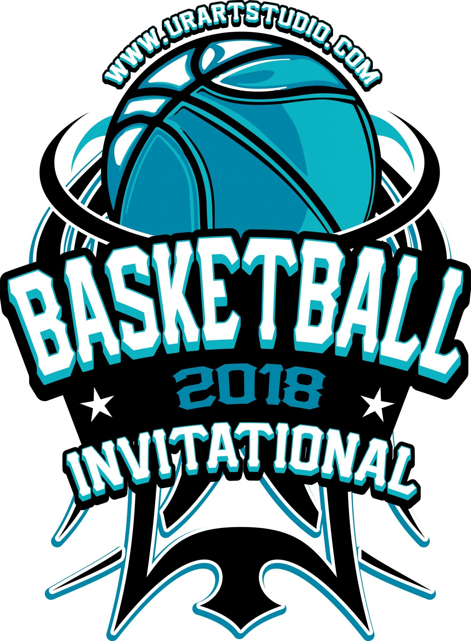 basketball invitational t shirt vector logo design for print