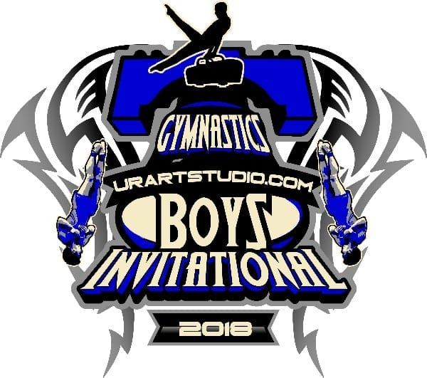 BOYS GYMNASTICS INVITATIONAL 2018 t-shirt vector logo design for print