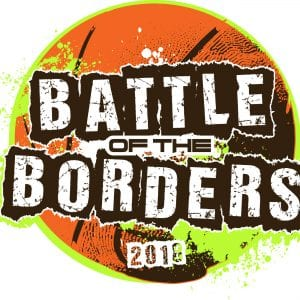 Battle of the borders basketball 2018 adjustable t-shirt logo design