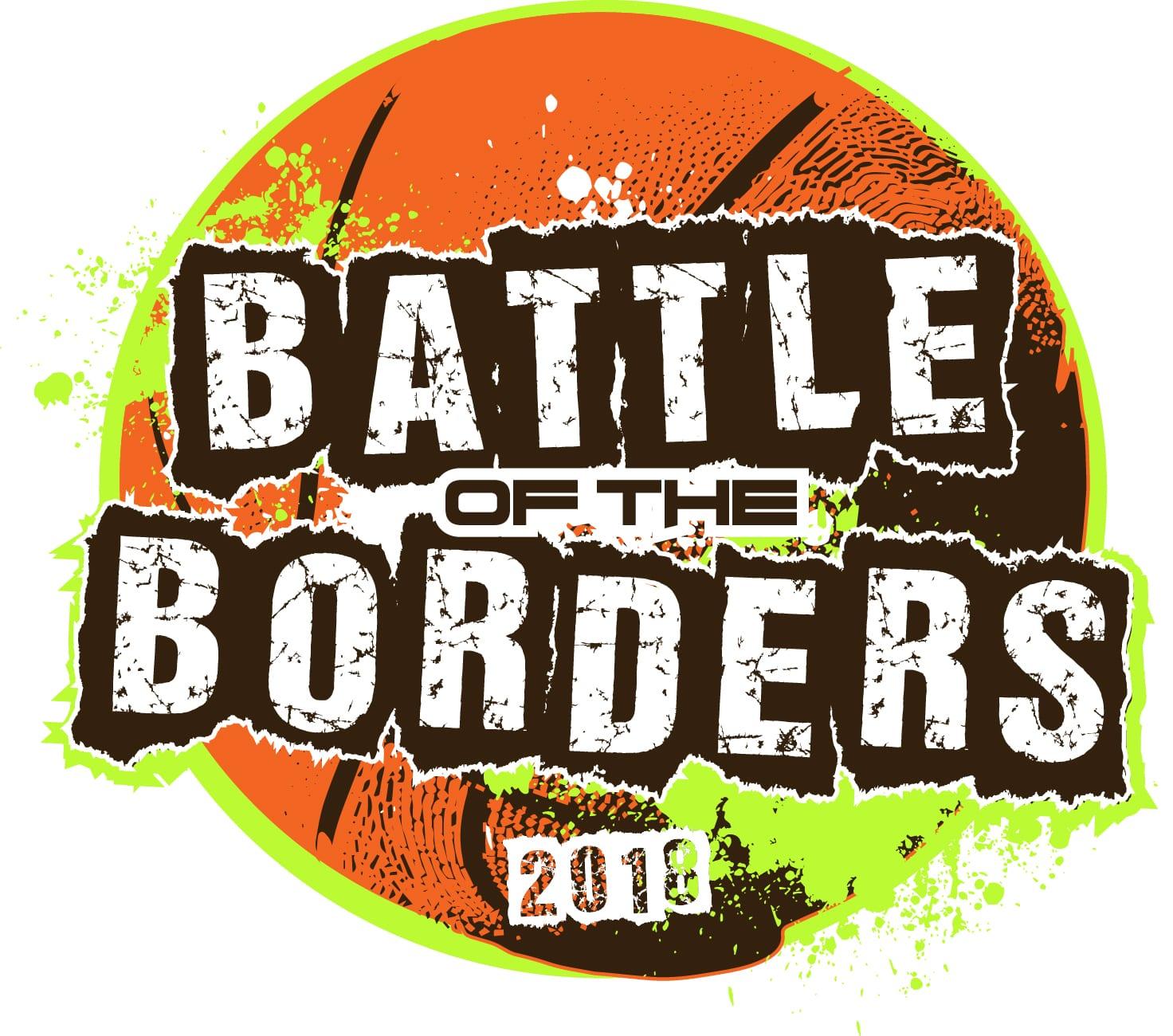 Battle of the borders basketball 2018 adjustable t-shirt logo design