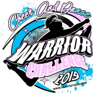 CHEER AND DANCE WARRIOR CHALLENGE 2019 T-shirt vector logo design for print