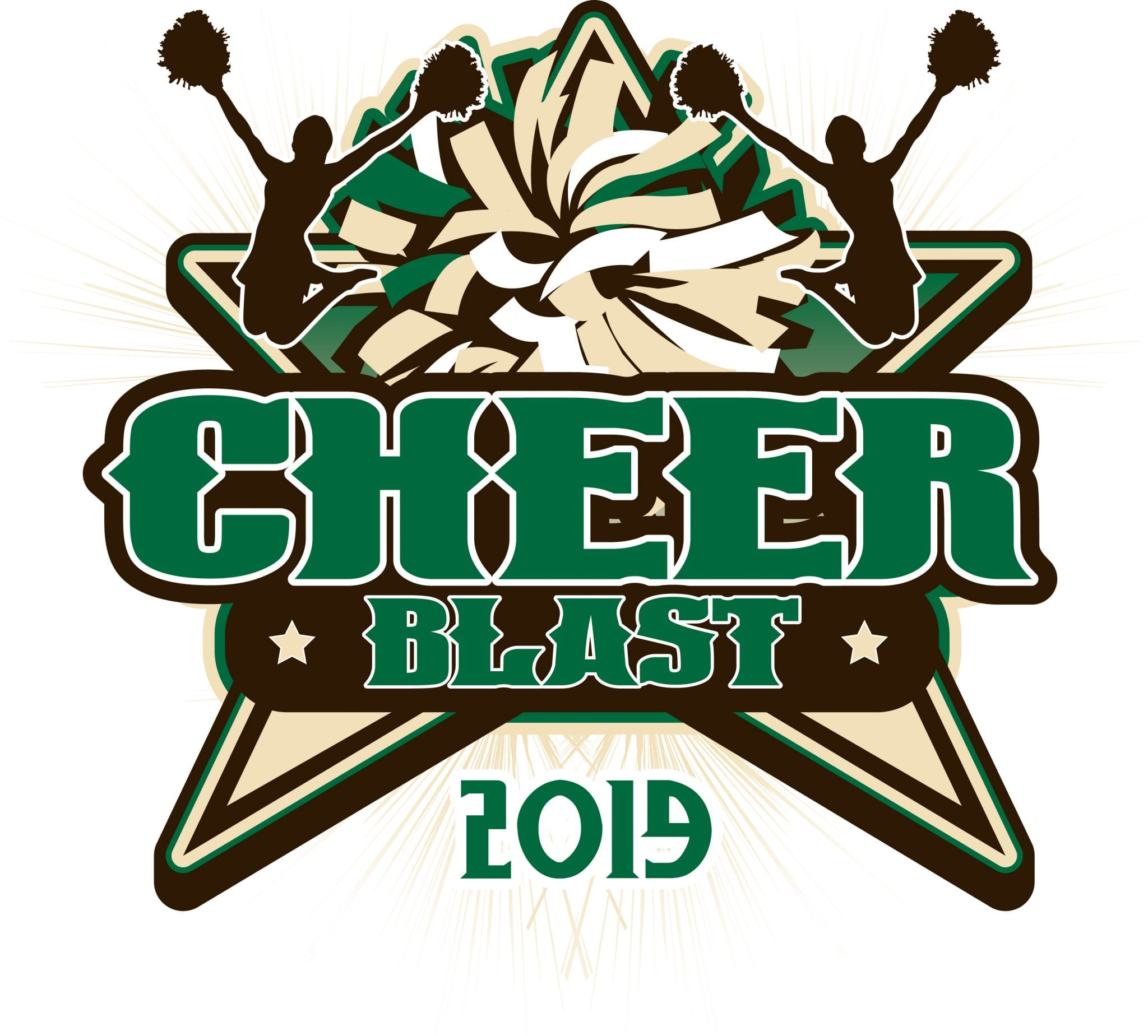 CHEER BLAST 2019 T-shirt vector logo design for print