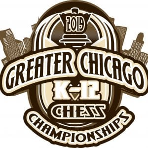 CHESS GREATER CHICAGO K-12 CHAMPIONSHIPS 2019 T-shirt vector logo design for print