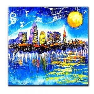 ABSTRACT PAINTING City of Cleveland