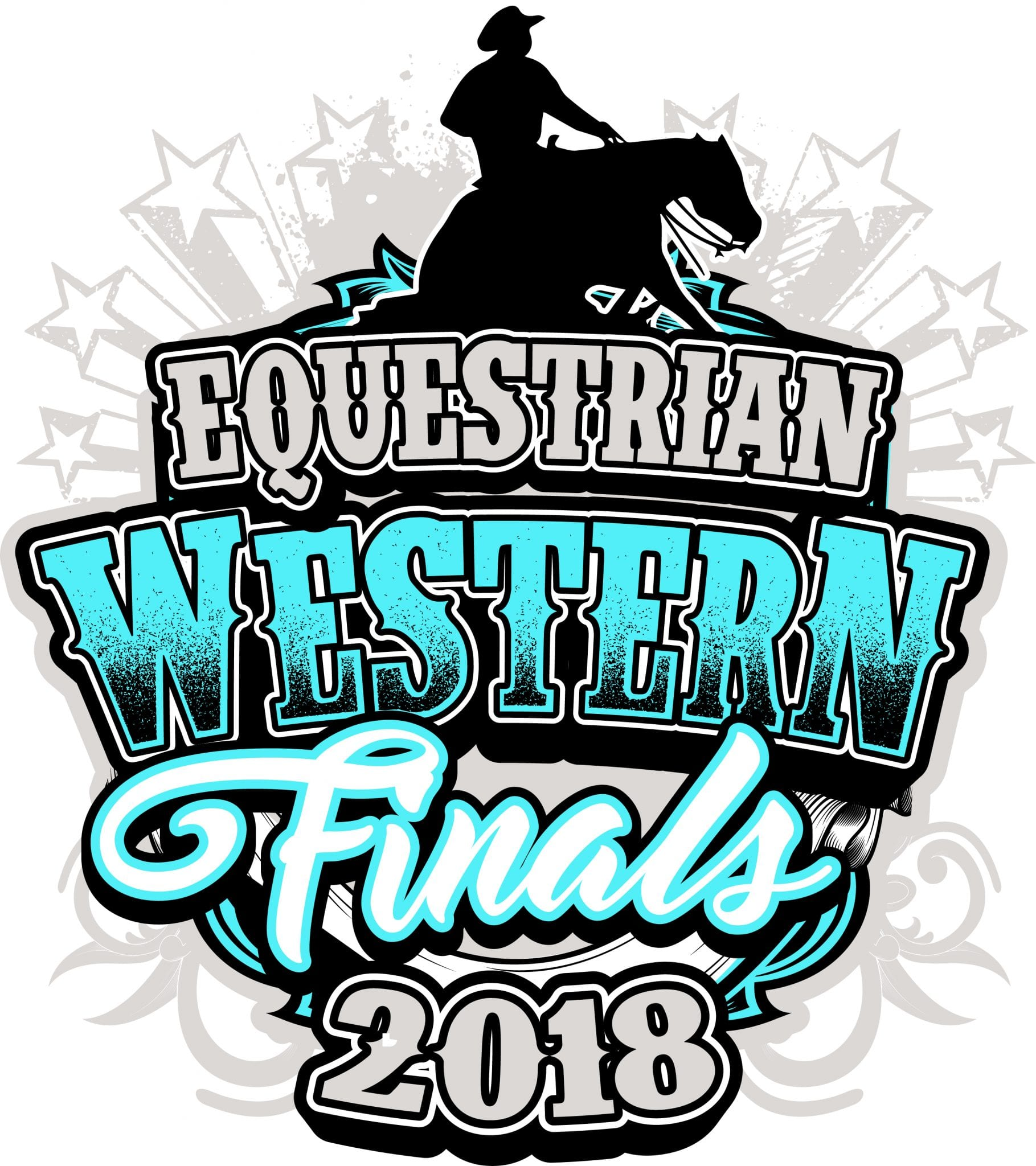 EQUESTRIAN WESTERN FINALS 2018 t-shirt vector logo design for print