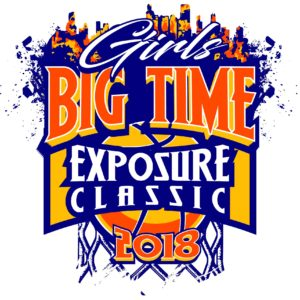 GIRLS-BIG-TIME-EXPOSURE-CLASSIC-BASKETBALL-2018-adjustable-t-shirt-logo-design-1