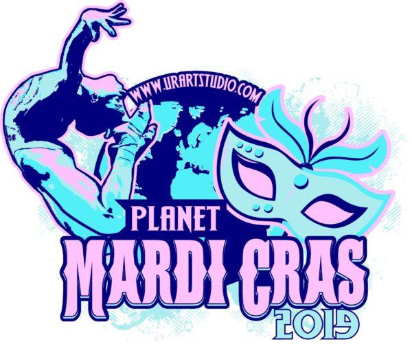GYMNASTICS MARDI GRAS TOURNAMENT 2019 T-shirt vector logo design for print
