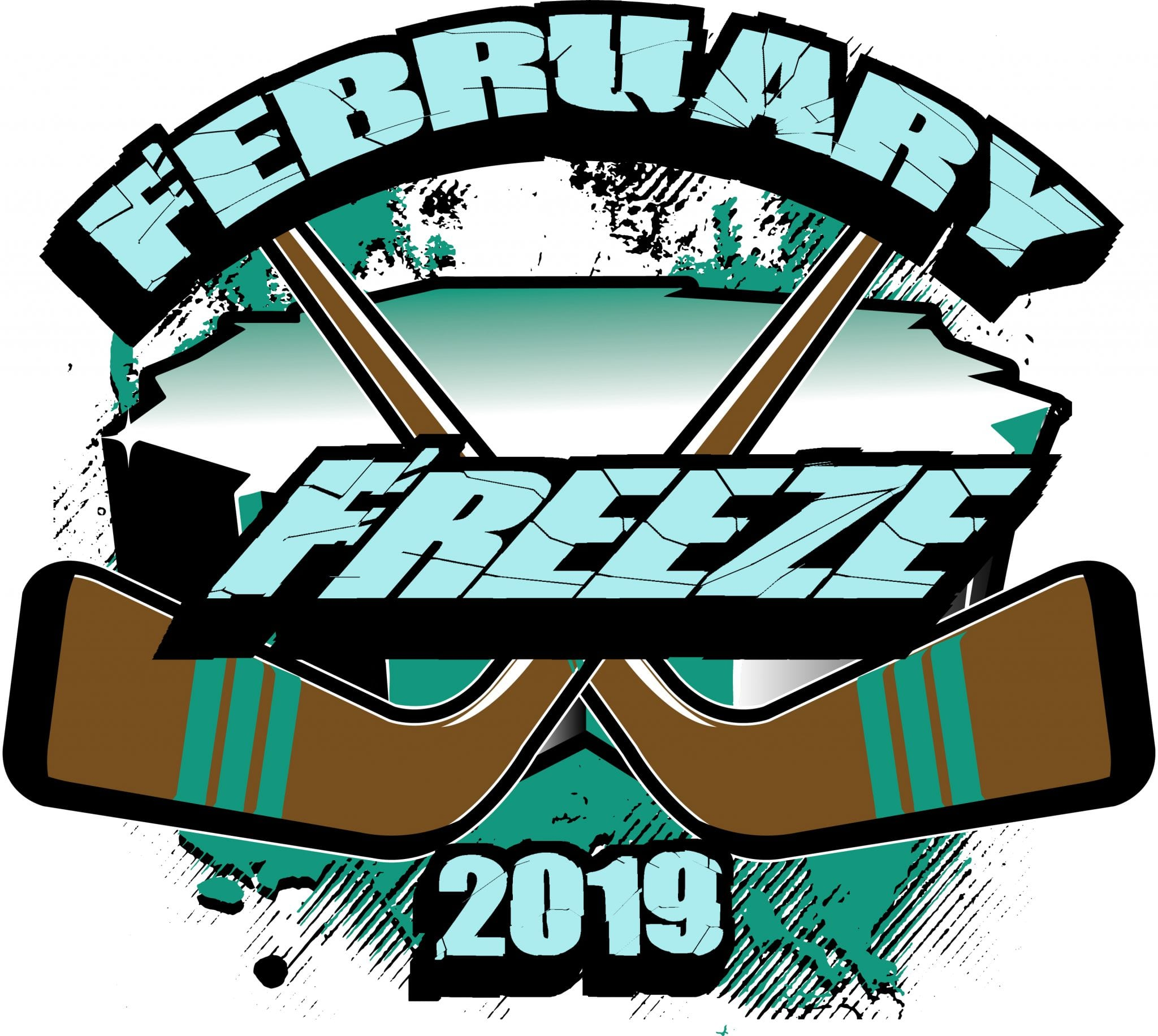 HOCKEY FEBRUARY FREEZE 2019 T-shirt vector logo design for print