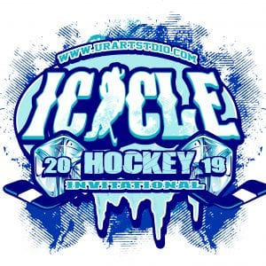 HOCKEY-ICICLE-INVITATIONAL-2019-T-shirt-vector-logo-design-for-print