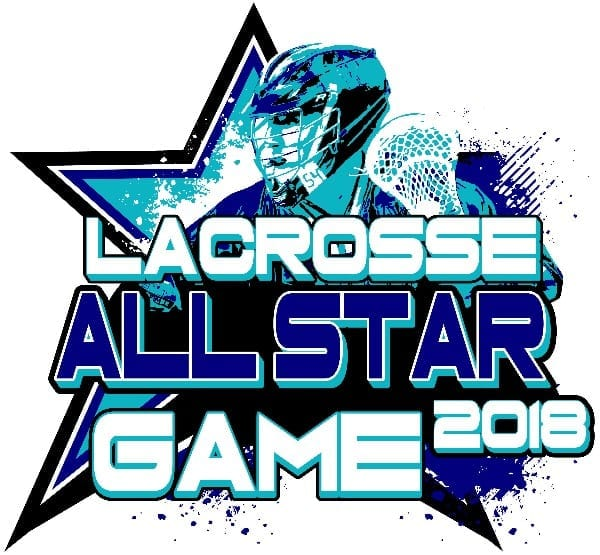 LACROSSE ALL STAR GAME 2018 T-shirt vector logo design for print