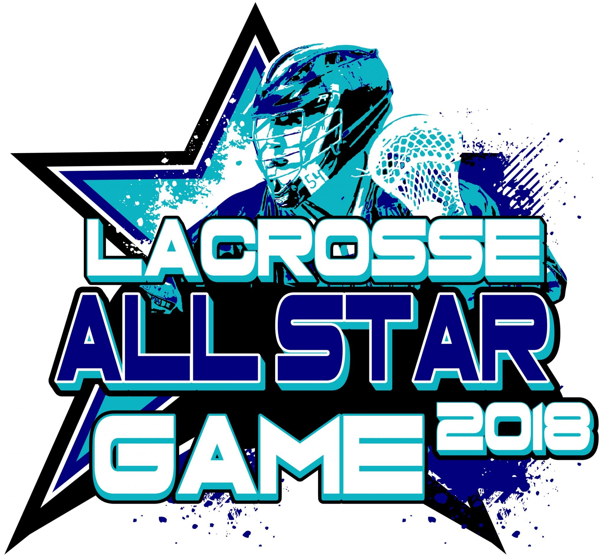 LACROSSE ALL STAR GAME 2018 T-shirt vector logo design for print