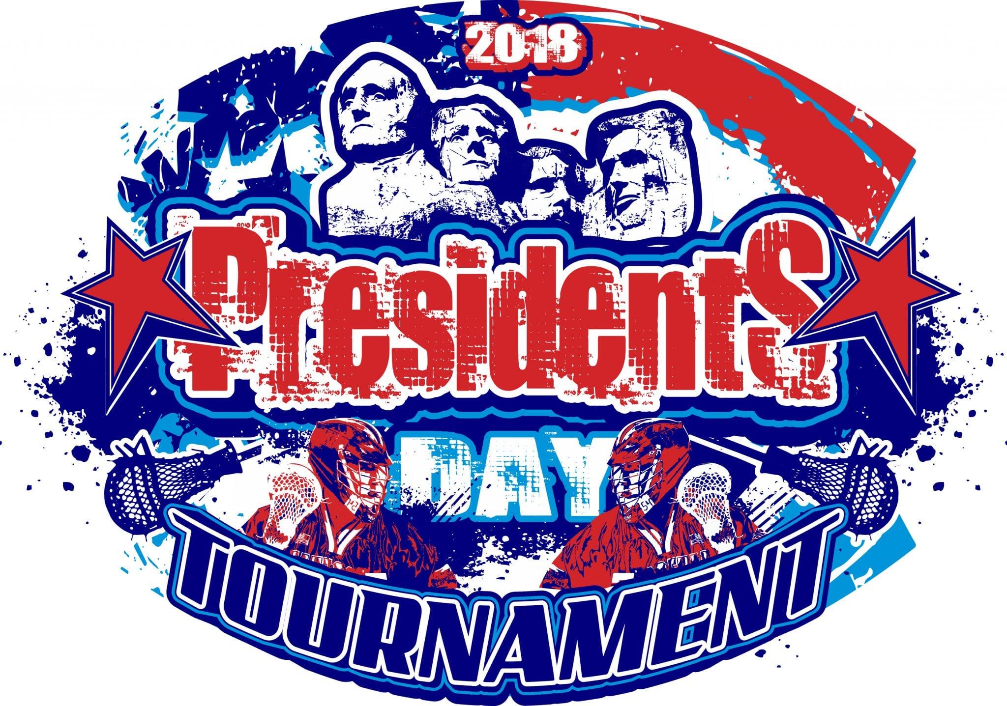LACROSSE PRESIDENTS DAY TOURNAMNET 2018 T-shirt vector logo design for print