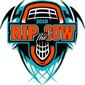 LACROSSE RIP the COW 2019 T-shirt vector logo design for print
