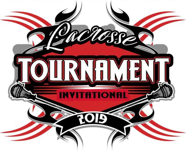 LACROSSE TOURNAMENT 2019 T-shirt vector logo design for print