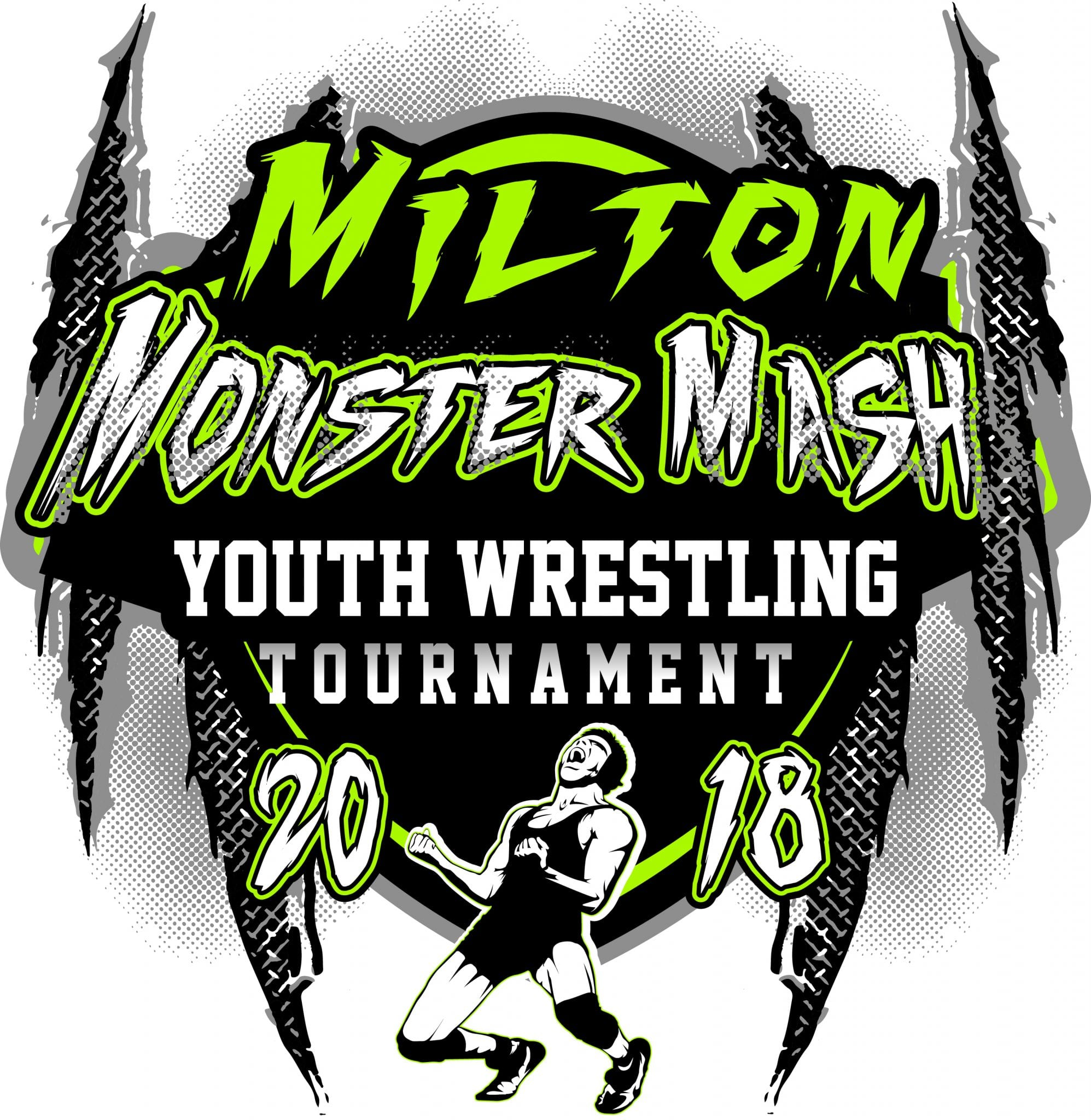 Milton Monster Mash Youth Wrestling Tournament 2018 T Shirt Vector