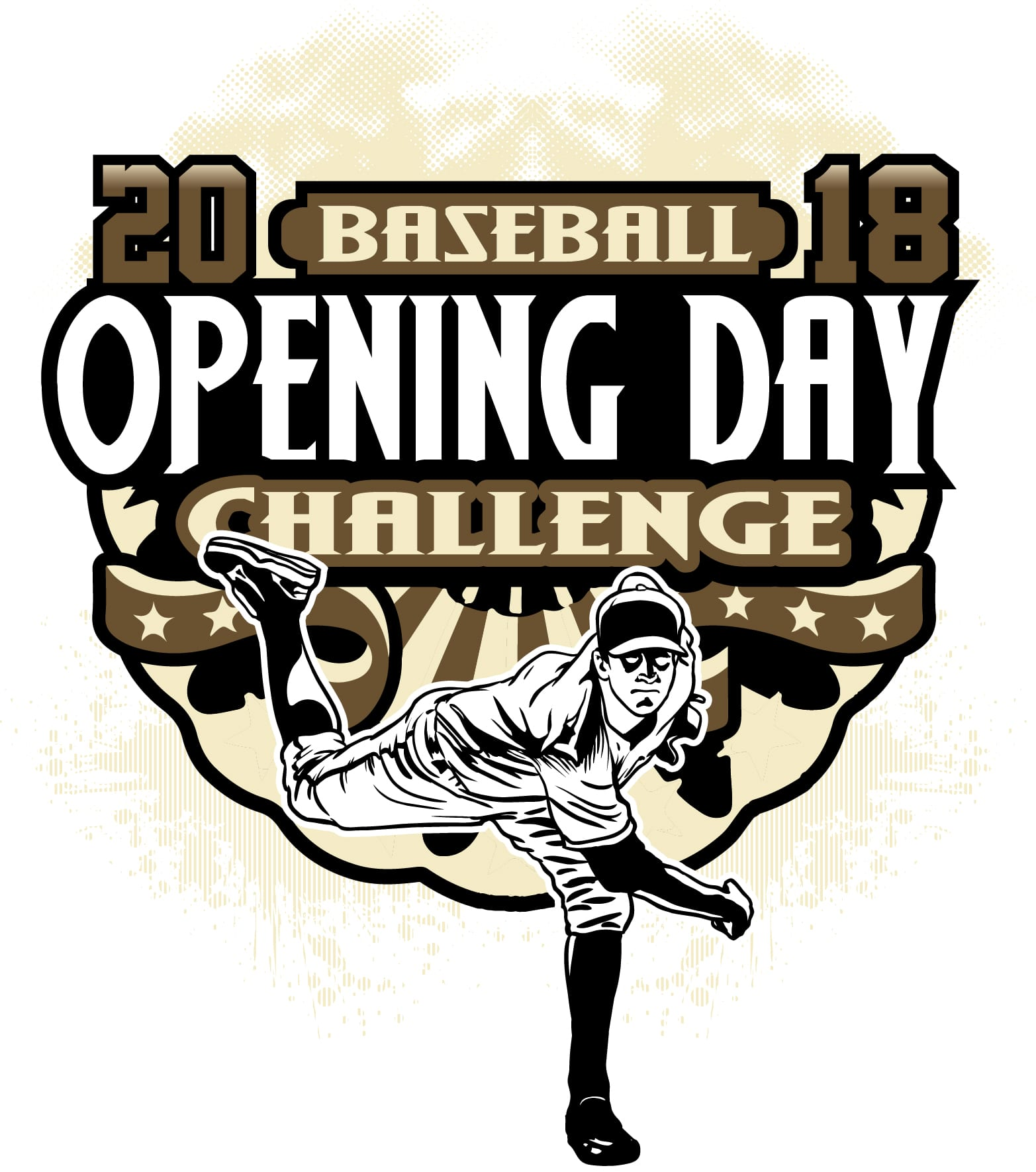 OPENING DAY CHALLENGE BASEBALL 2018 adjustable t-shirt logo design