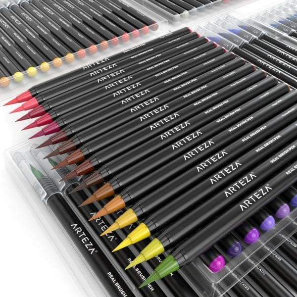 Real Brush Pens - 96 Colors - Watercolor Markers - (Set of 96) 3