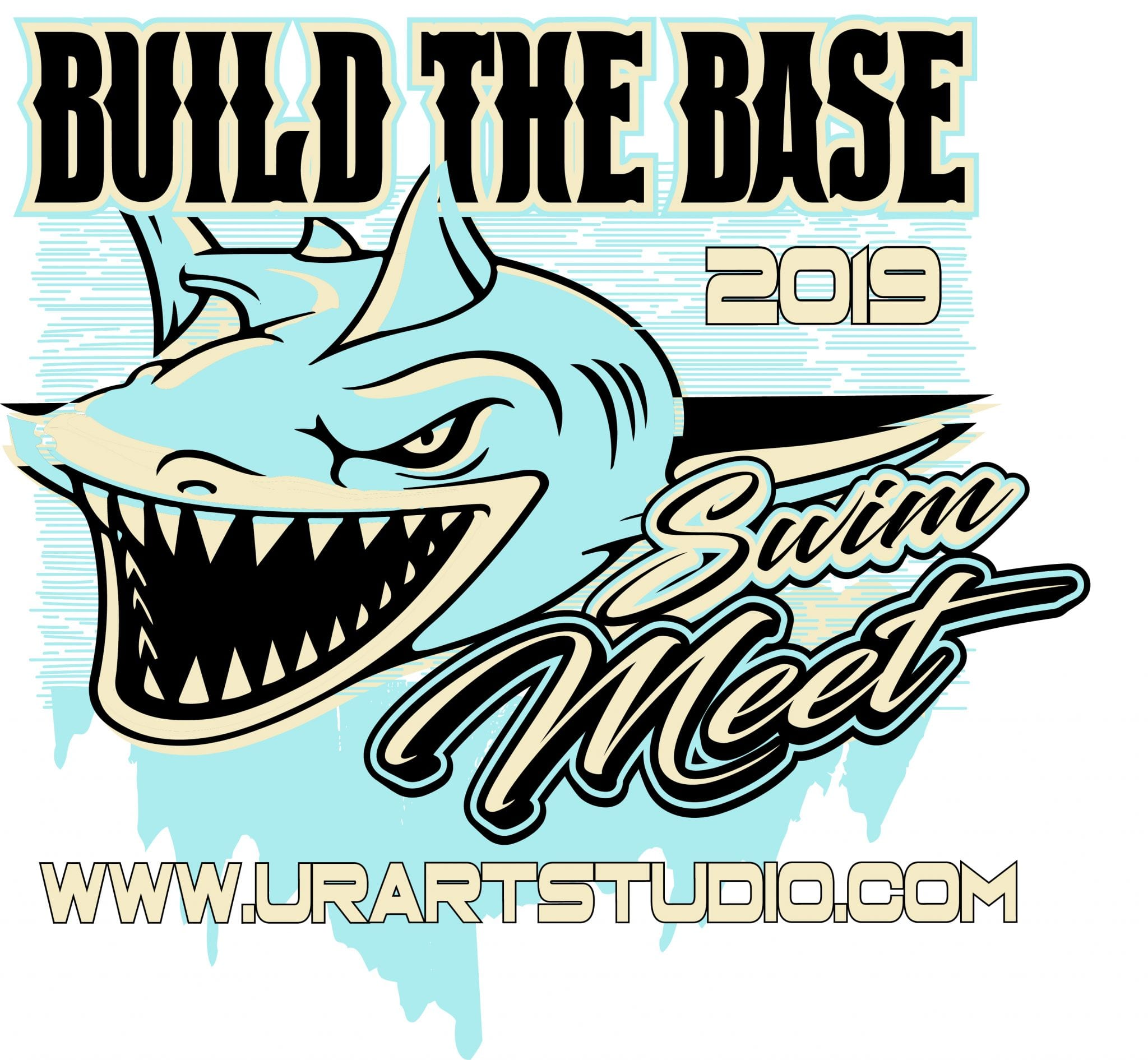 Shark Swim Meet Build The Base 2019 T Shirt Vector Logo