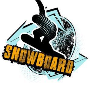 SNOWBOARD T-shirt vector logo design for print
