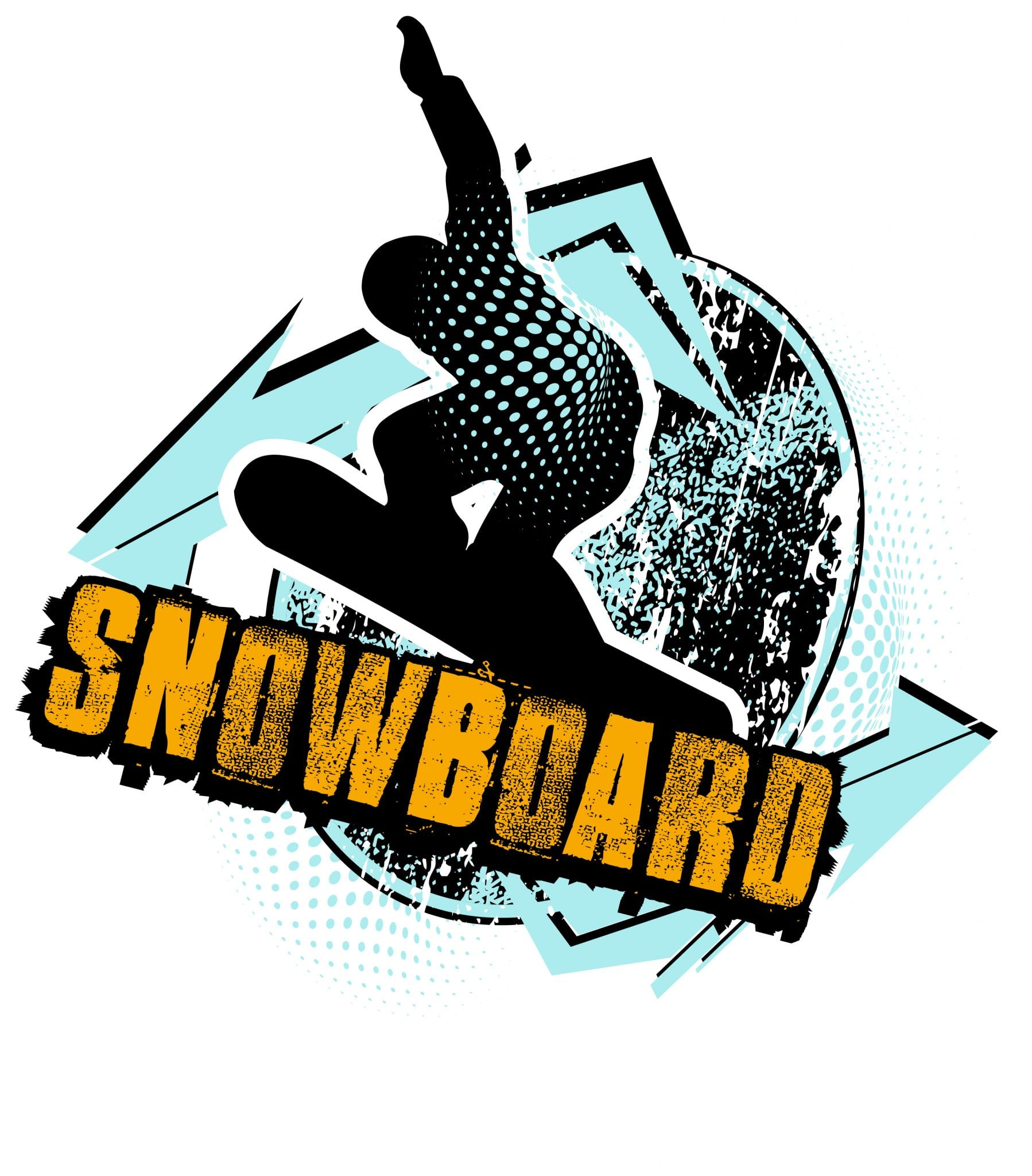 SNOWBOARD T-shirt vector logo design for print
