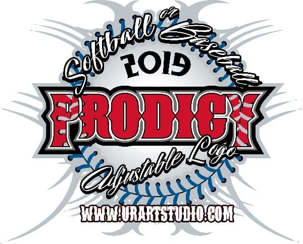 SOFTBALL BASEBALL PRODIGY ADJUSTABLE LOGO 2019 T-shirt vector logo design for print