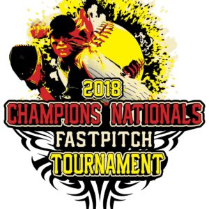 SOFTBALL CHAMPIONS NATIONALS FASTPITCH TOURNAMENT t-shirt vector logo design for print