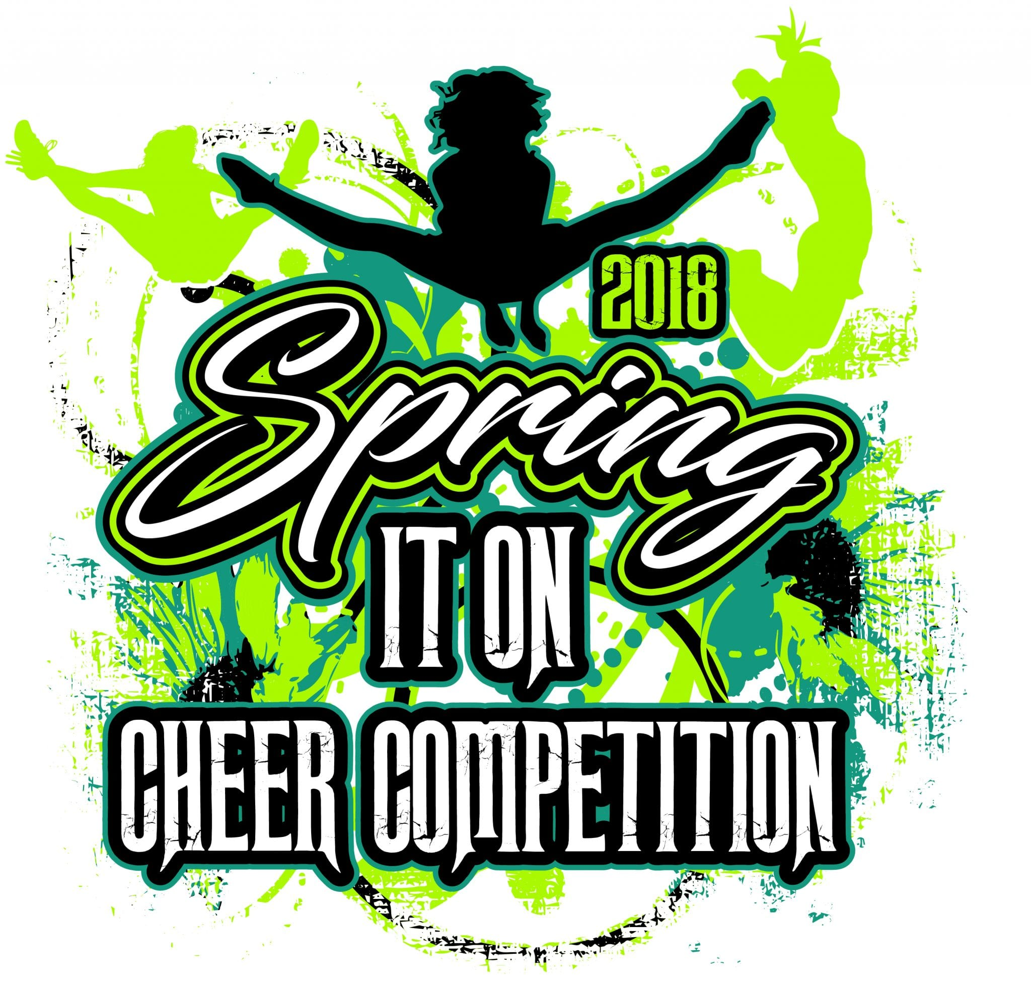 SPRING IT ON CHEER COMPETITION 2018 t-shirt vector logo design for print