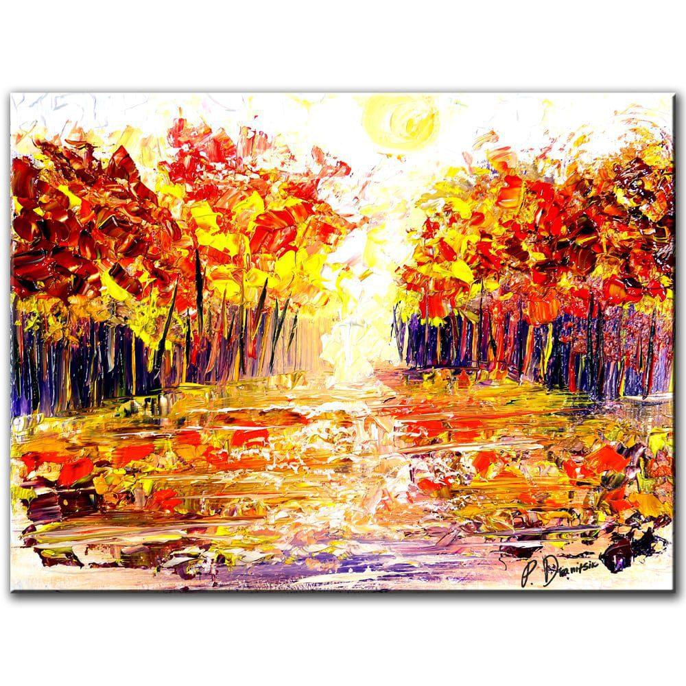 Sunshine Landscape Original Painting By Peter Dranitsin