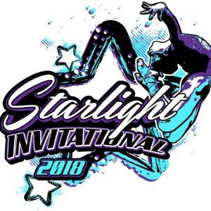Starlight-gymnastics-invitational-2018-adjustable-t-shirt-logo-design