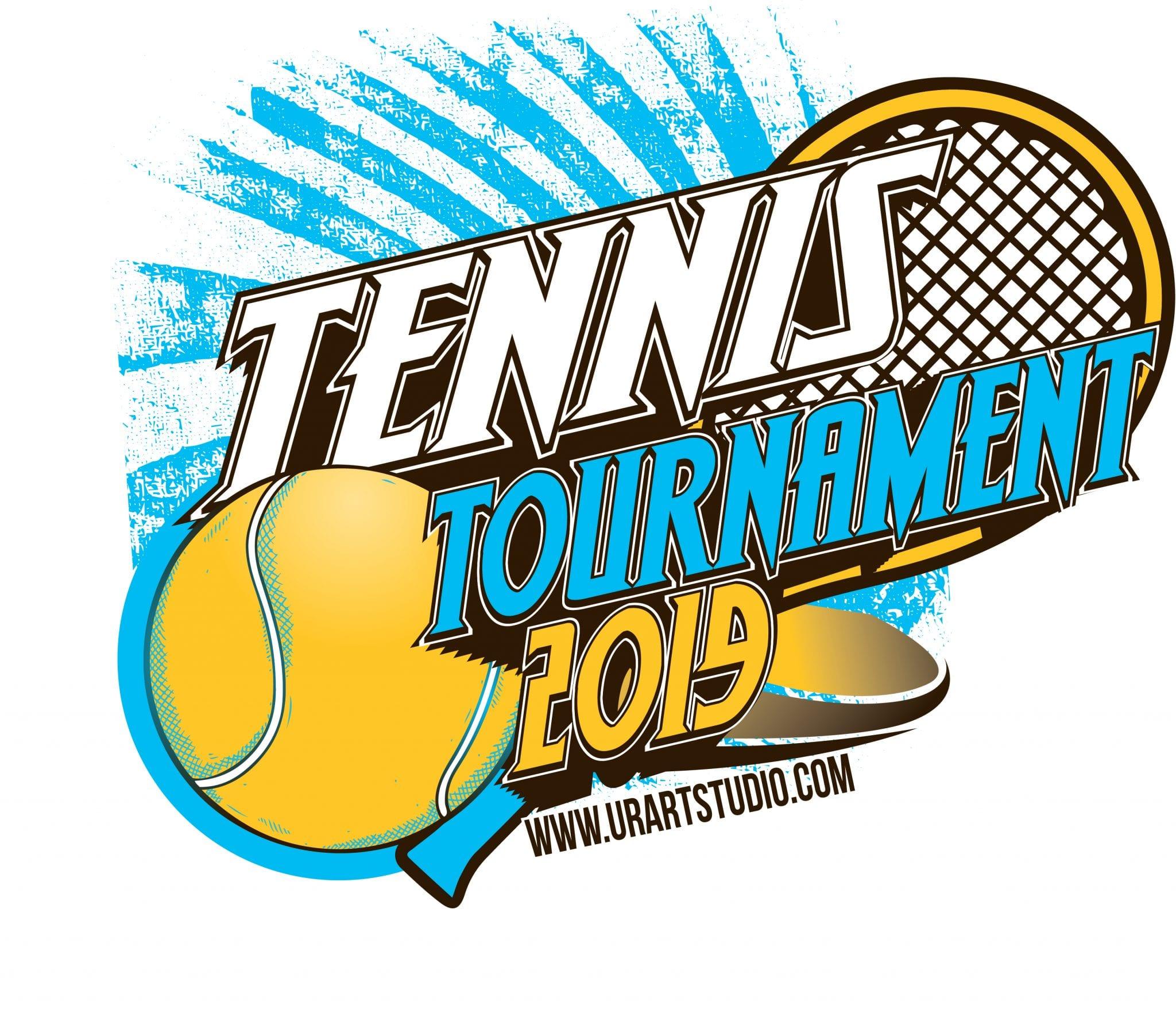tennis tournament 2019 t shirt vector logo design for print rh urartstudio com Men's Softball Logos CR Softball Logo Designs