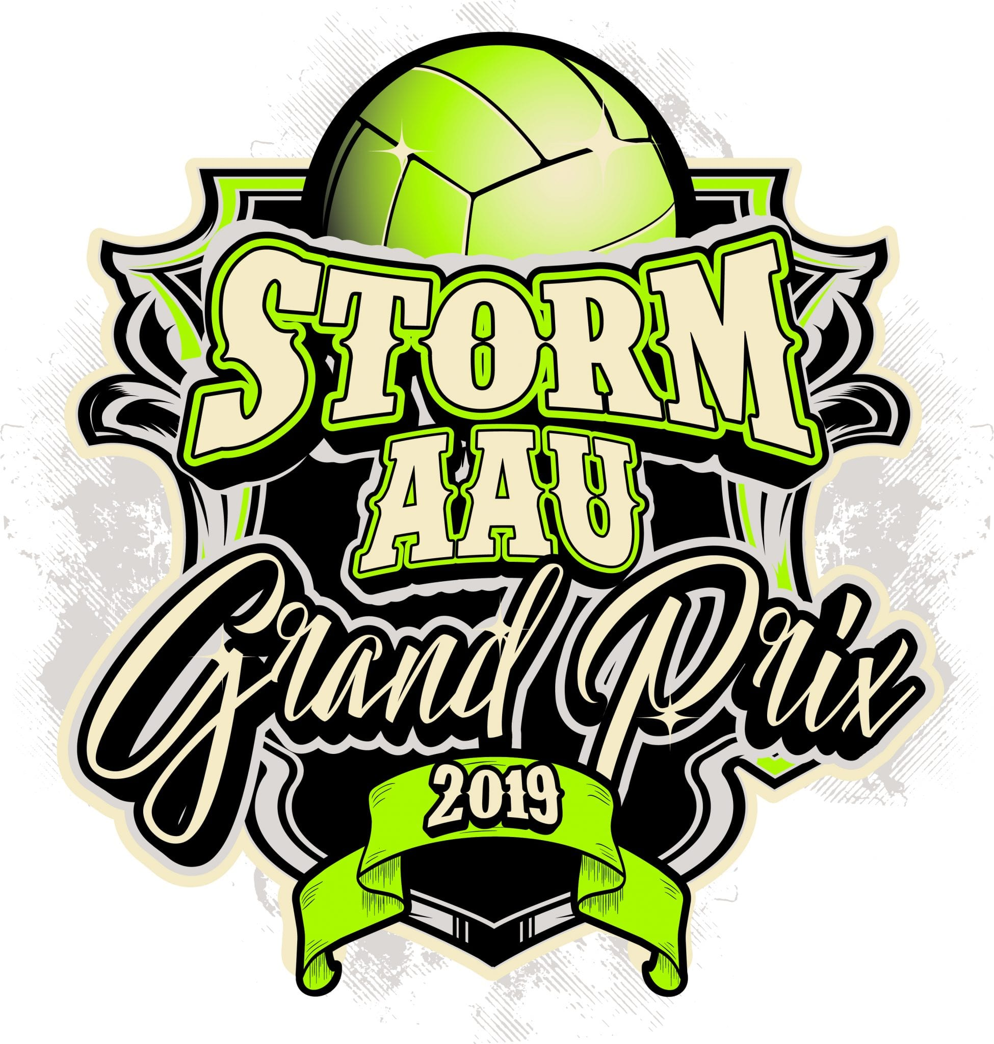 Volleyball Storm Aau Grand Prix 2019 T Shirt Vector Logo Design