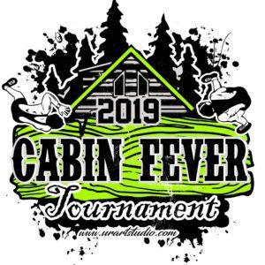 WRESTLING CABIN FEVER TOURNAMENT 2019 T-shirt vector logo design for print